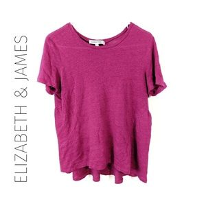 Elizabeth and James Peplum Linen Top